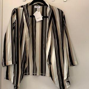 Emelia striped blazer.